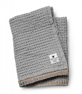 Mantita bebé algodón orgánico inspiración marroquí de Elodie Details guilded grey