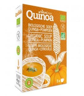 Nature Crops instant de quinoa y calabaza. 3 sobres de sopa
