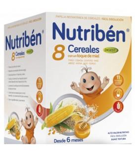Nutribén Papilla 8 Cereales Miel Efecto Bifidus