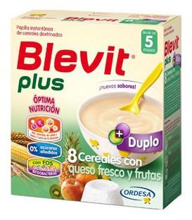 Papilla Blevit plus Duplo 8 Cereales con queso fresco y frutas