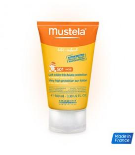 Mustela Leche solar muy alta protección cara y cuerpo