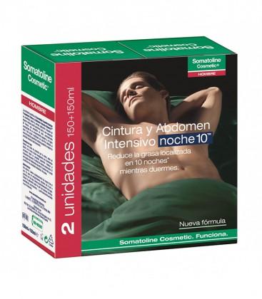 Somatoline Hombre Intensivo Noche Cintura y Abdomen Pack 2 X 150 ml