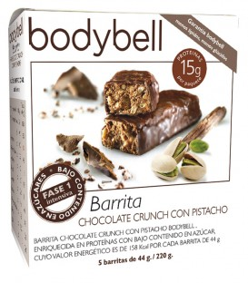 Bodybell Barritas Chocolate Crunch con Pistacho caja
