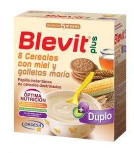 Papilla Blevit plus Duplo 8 Cereales con miel y galletas maría