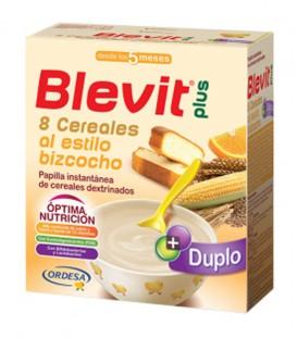 Blevit plus Duplo Papilla 8 Cereales al estilo bizcocho 600g
