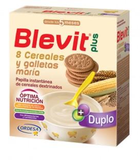 Papilla Blevit plus Duplo 8 Cereales y galletas maría