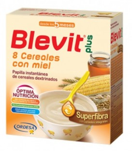 Blevit Plus Superfibra Papilla 8 Cereales con Miel