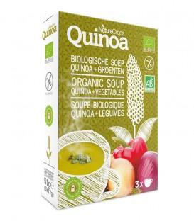 Nature Crops instant de quinoa y verduras. 3 sobres de sopa