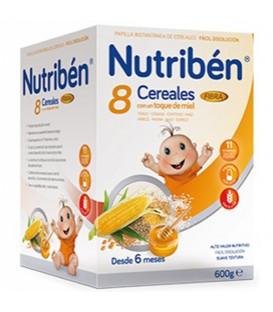 Nutribén Papilla 8 Cereales Miel y Fibra