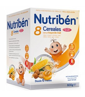 Nutribén Papilla 8 Cereales Miel y Frutos Secos