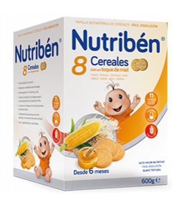 Nutribén Papilla 8 Cereales Miel y Galletas María