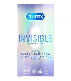 Durex Preservativos Invisible Extra Lubricado 12 uds