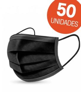 Mascarilla Quirúrgica Negra 50 uds
