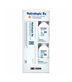 Isdin Nutratopic Rx Crema para piel atópica (100 ml.) + Loción Emoliente (50 ml.) + Gel (50 ml.)